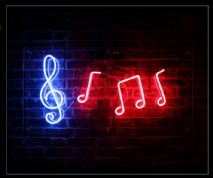 Musical Notes 2 Neon Sign